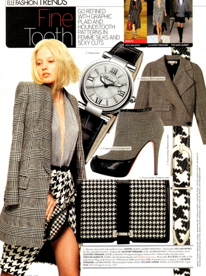 ELLE Fashion USA August 2011