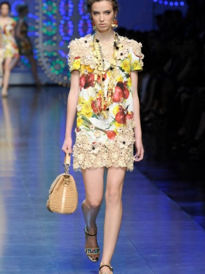 Denija at Dolce & Gabbana runway