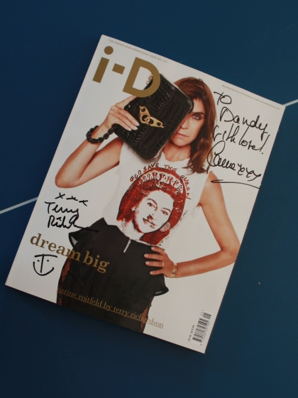 i-D Magazine cover signed by Carine Roitfeld & Terry Richardson