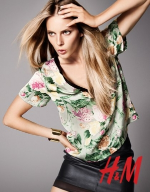 Here we go - Ieva for H&M Spring 2012 catalogue