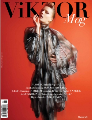IEVA LAGUNA ON THE COVER OF VIKTOR MAG!!!