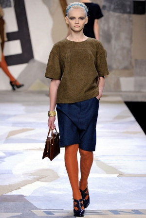 Ginta Lapina from Milan fashion week Fall/Winter 2011/2012