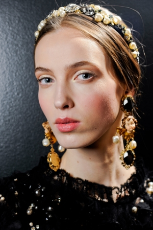 DOLCE&GABBANA FW 2013 MAKE UP BY PAT MCGRATH WITH DENIJA SARKANBIKSE