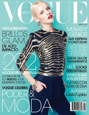 GINTA LAPINA FOR VOGUE MEXICO APRIL 2012 + BEHIND THE SCENES