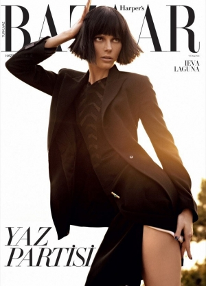 IEVA GOES BRUNETTE FOR HARPER'S BAZAAR TURKEY JUNE 2012