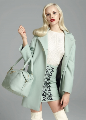 STUNNING GINTA IN VERSACE FALL/WINTER 12/13 LOOKBOOK