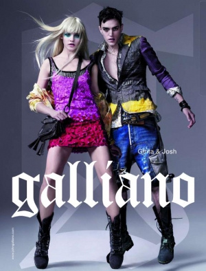 Ginta Lapina for Galliano by John Galliano AD