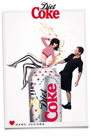 GINTA LAPINA JOINS MARC JACOBS FOR DIET COKE CAMPAIGN