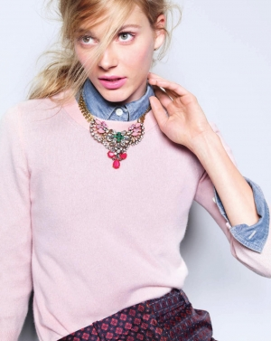 GIRLY IEVA FOR J.CREW AUGUST 2013 CATALOGUE