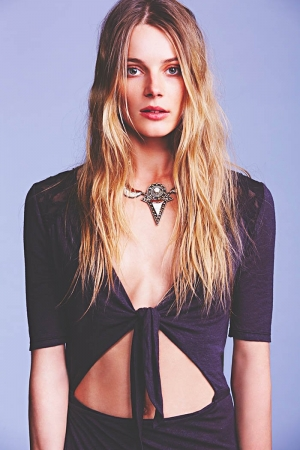 Ieva Poses for Free People's January Lookbook