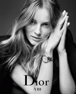 IEVA LAGUNA - NEW FACE OF DIOR VIII TIMEPIECES AD CAMPAIGN