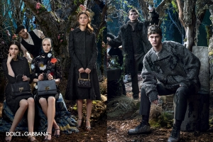 EVA BERZINA AND MIKS KAIDAKS FOR DOLCE&GABBANA FALL/WINTER 2014/2015 AD CAMPAIGN
