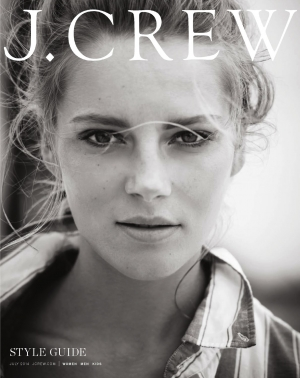 IEVA LAGUNA POSES FOR J. CREW'S STYLE GUIDE