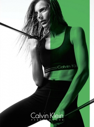 IEVA LAGUNA IS SPORTY FOR CALVIN KLEIN PERFORMANCE